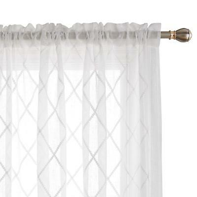 trellis embroidered curtains faux linen curtains rod