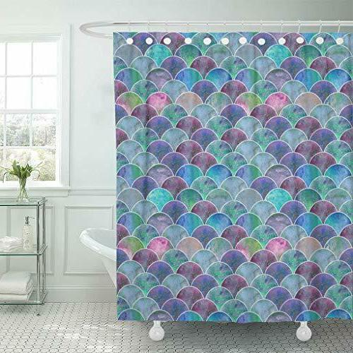 waterproof shower curtain curtains fabric with hooks