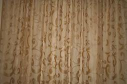 """Lace Curtain Extra Wide 120"""" X 84"""", Sheer Lace Curtains, Ext"""