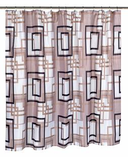 Lexington Extra Wide Polyester Fabric Shower Curtain, Geomet