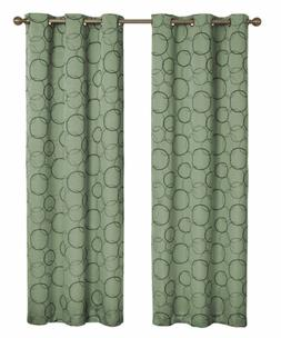 Eclipse Meridian Blackout Sage Curtain Panel, 42 in. Wide x