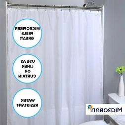 Mildew Resistant Polyester Shower Curtain: Machine Washable
