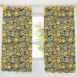 """DESPICABLE ME MINIONS CURTAINS 72"""" DROP - KIDS BEDROOM NEW"""