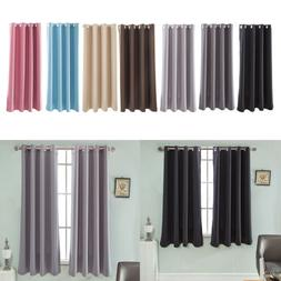 Modern Blackout Window Curtains Panels for Home Thermal Insu