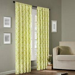 Madison Park Modern Green Window Curtains With Delray Diamon