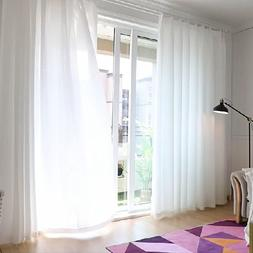 Soild Color Sheer Curtains for Living Room Cafe Voile Tulle