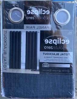 "NEW Eclipse Absolute Zero 95"" Blackout Curtains 2-pack Kimba"