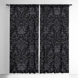 New Victorian Gothic Black Printed Blackout Curtains/Drapes-