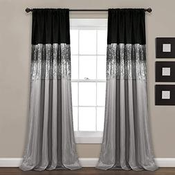 Night Sky Black/Gray Window Curtain