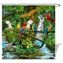 CafePress Parrots In Paradise Shower Curtain
