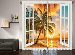 Personalized Decor for Living Room Decorations Curtains 2 Pa