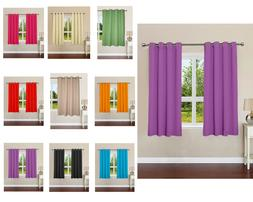 Plain Cotton Curtains With 8 Eyelets For Window Door Curtain