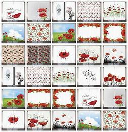 Poppy Curtains 2 Panel Set for Home Decor 5 Sizes Available