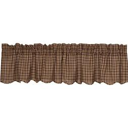 Prescott Scalloped Lined 72 Curtain Valance