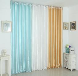 Pure Color Cloth Curtain Living Room Darkening Curtains Grom