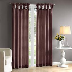 Purple Curtains For Living Room, Transitional Fabric Curtain