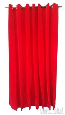 Red 108 inch H Velvet Curtain Panel w/Grommet Top Eyelets Wi