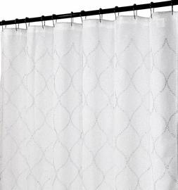 Regal Home Fabric Shower Curtain Sheer Embroidered Moroccan