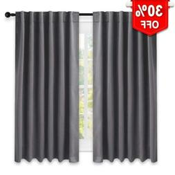 NICETOWN Rod Pocket Curtain Draperies - Thermal L63 | 2 Pane