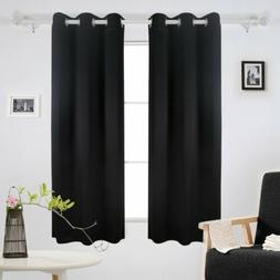 Room Darkening Thermal Insulated Grommet Window Curtain for