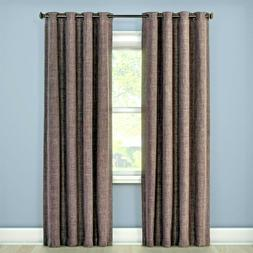 """Eclipse Rowland CHARCOAL Blackout One Curtain Panel 52""""x95"""""""