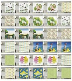 Rubber Duck Shower Curtain Geometry Decor Set with Hooks 4 S