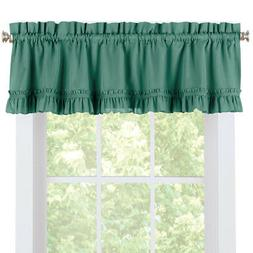 Ruffled Spring Window Valance Curtain for Kitchen or Any Roo