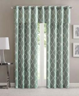 Madison Park Seafoam Curtains for Living Room, Contemporary