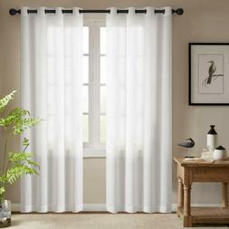 Semi Sheer White Curtains For Bedroom Window Curtains 84 Inc