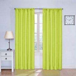 Set 2 Lime Green Window Curtains Panels Drapes 63 84 inch L