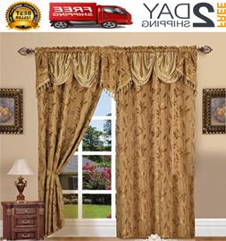 """Set Of 2 Window Curtains Curtain Panels Drapes For Living R"