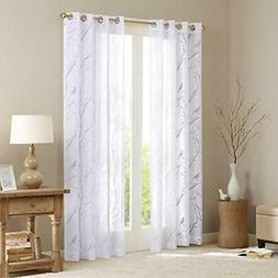Sheer Curtains For Bedroom, Moden Grommet White 84 Inches Lo