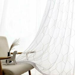 Sheer Curtains White Embroidered White Sheer Curtains Bedroo
