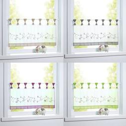 Sheer Half Curtains for Kitchen Embroidered Short Window Tie