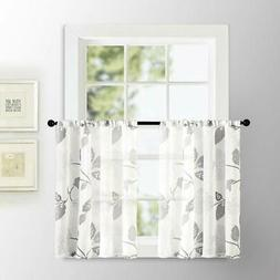 sheer kitchen tiers curtains 36 inch length