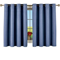 Short Woven Diamond Pattern Window Curtain Panel