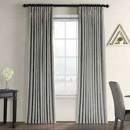 Exclusive Fabrics Silver Grey Velvet Blackout Extra Wide