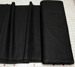 Solid Black Algodón Cotton Quilting Fabric Masks Apparel Sh