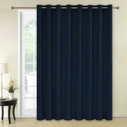 Deconovo Solid Color Thermal Insulated Wide Width Curtains 1