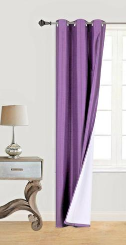 SOLID LILAC 1PC LINED BACKING ROOM DARKENING   INSULATE PANE