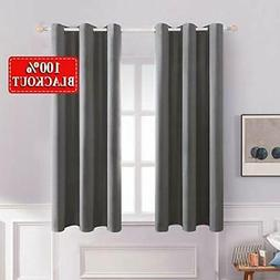 MIULEE Solid Thermal Insulated 100% Blackout Curtains with