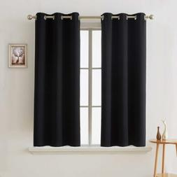 Solid Thermal Insulated Grommet Blackout Window Curtain for