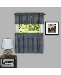 Achim Home Furnishings Sydney Window Pair Curtain Tier, 58""