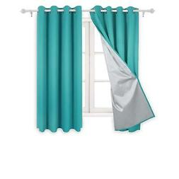 Deconovo Teal Blackout Curtains for Kids - Thermal Insulated