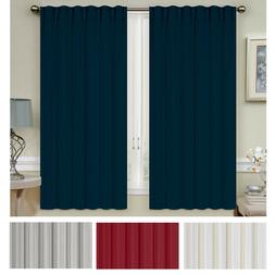 Mellanni Blackout Curtains 2-Panel 52x63 Thermal Insulated R