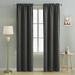 Deconovo Thermal Insulated Curtains Rod Pocket Blackout Curt