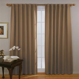 Thermal Insulated Single Panel Rod Pocket Darkening Curtains