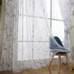 Tulle Curtains for Living Room Romantic Custom Floral Voile