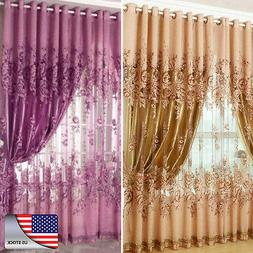 us peony pattern voile curtains living curtains