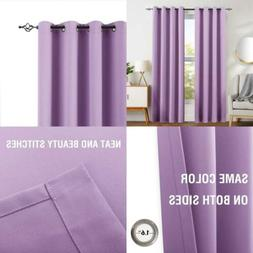 Violet Blackout Curtains for Lilac Girls Room Darkening Ther